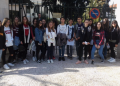 Photo of the students before taking the Tour to the Gennadius Library