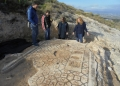 The group discussing methods for preserving the mosaic at the Sanctuary of Demeter and Kore on Acrocorinth.