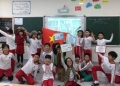 A successful Mystery Skype, using maps to discover the exact location of Ancient Corinth, Greece. Photo: Đỗ Lan Hương.