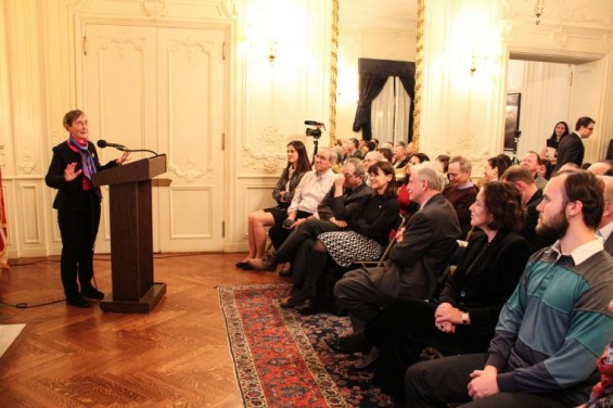 Mary Lefkowitz at the Celebration of the Classics at the Greek Consulate in Boston