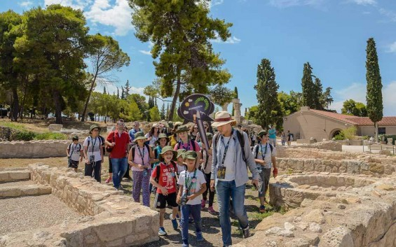 Kids become archaeologists for a day at Ancient Corinth
