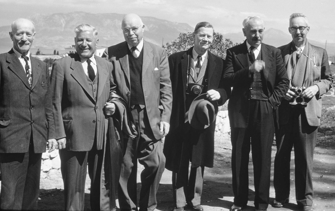 Oscar Broneer and Colleagues in Ancient Corinth, ca. 1955