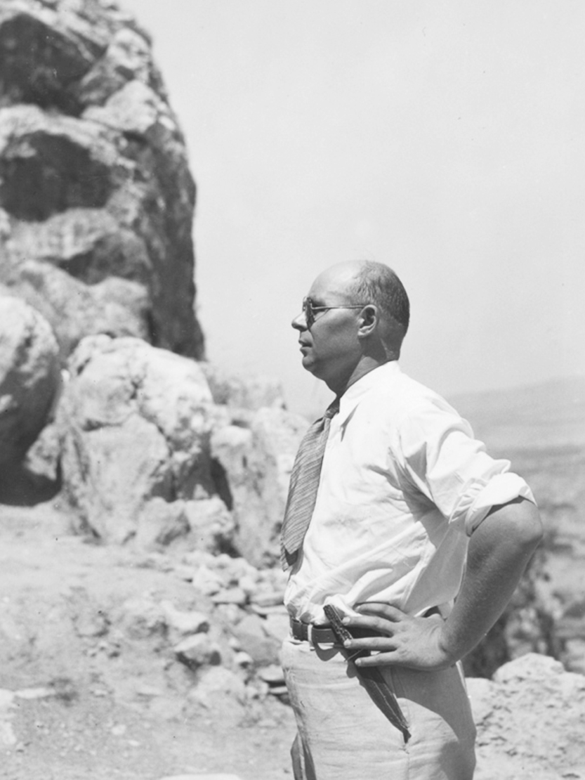 Oscar Broneer on the North Slope of the Acropolis, ca. 1930s