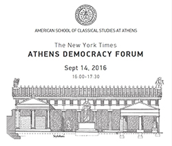 VIDEOCAST - The New York Times : Athens Democracy Forum - Ancient Democracy & Religion, Migration.