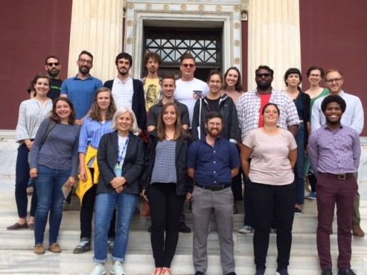 The ASCSA students at the School's Archives
