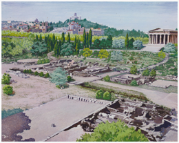 Landscaping Ancient Agora in the 1950s. Before-and-After Photos