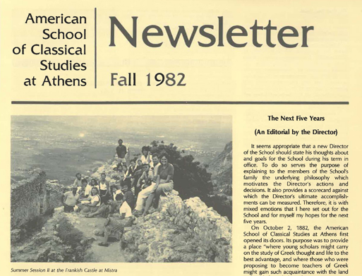 A Blast from the Past: Uploading old ASCSA Newsletters
