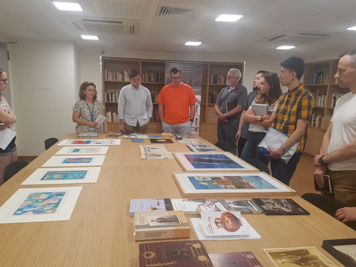 Clayton Lehmann's Summer Seminar Reads Elytis and Seferis in the School's Archives