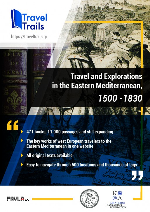 TravelTrails: Travels and Explorations in the Eastern Mediterranean, 1500 – 1830