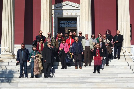 Group from Kalamata visits the Gennadius Library