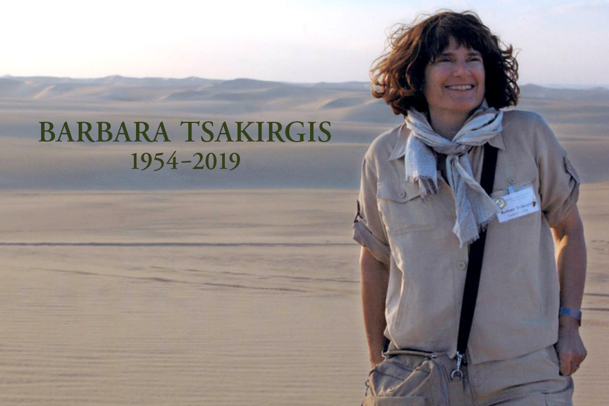 Barbara Tsakirgis in the Egyptian Desert