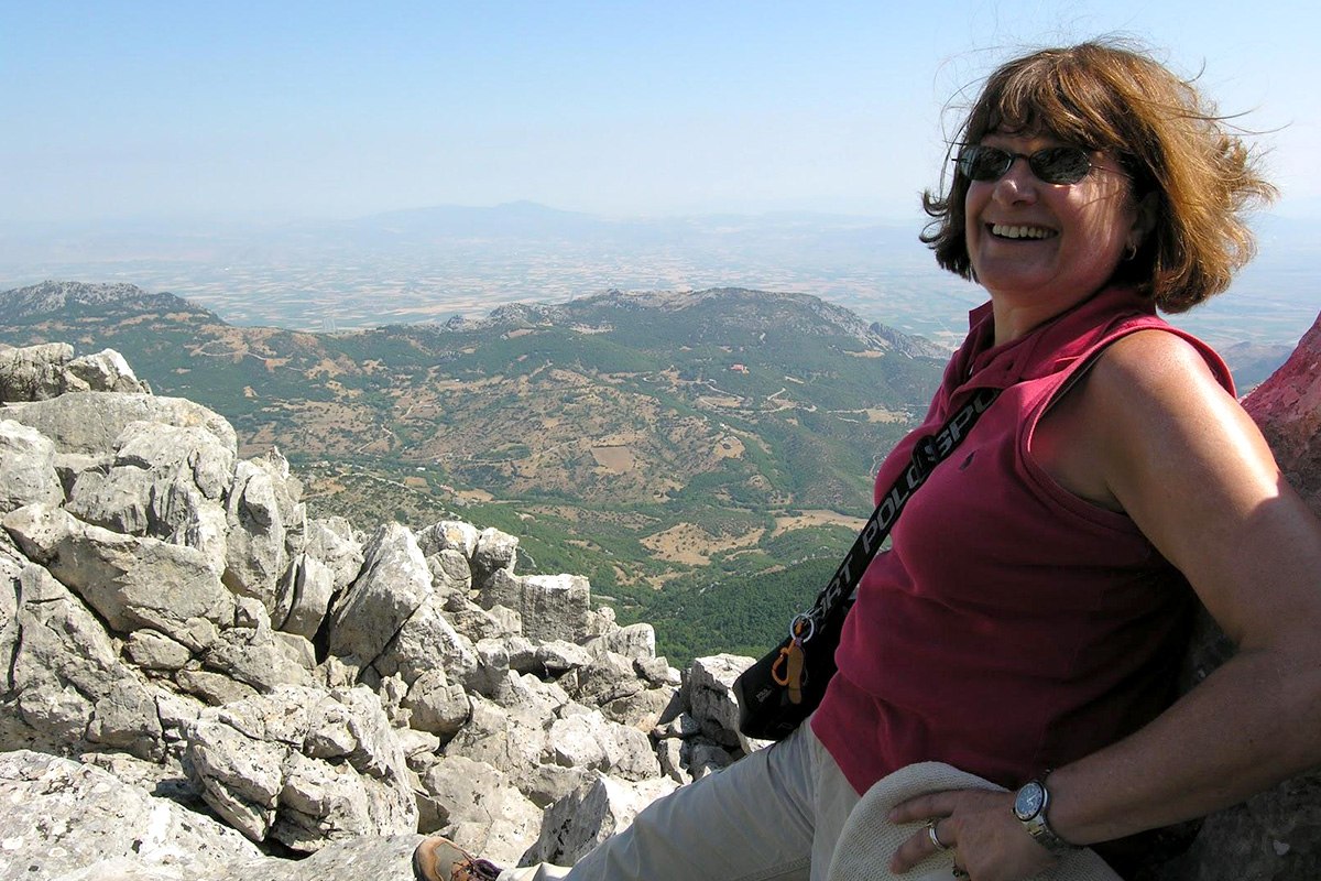 Barbara Tsakirgis at Mount Helikon